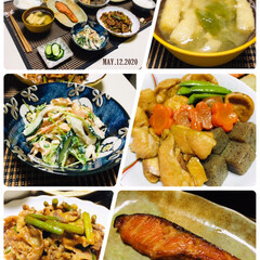 フォロー大歓迎/ランチョンマット/fmp/ナチュラルキッチン/ダイソー/至福の時間/...        5/12(火) 夕食  ご…