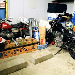 野菜/バイク/車庫/フォロー大歓迎/おうち 冬の雪が降る時だけ私の軽自動車を車庫に入…