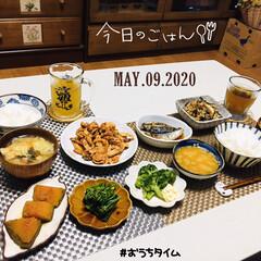 フォロー大歓迎/住まい/KOMERI/ランチョンマット/ダイソー/至福の時間/...         5/9(土) 夕食  ご…