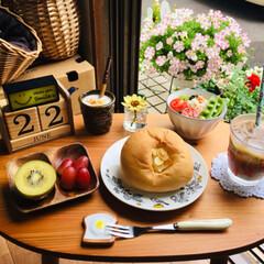PASCOはちみつチーズパン/朝食/ワッツ/シルク/フォロー大歓迎/至福のひととき/...               6/22(土…