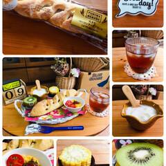 紅茶の時間/ファミマ・ベーカリー大きなベーコン.../Family Mart/朝食/Francfranc/シルク/...                    9…