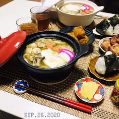 八幡屋礒五郎 七味唐辛子 缶 14g(カクテル)を使ったクチコミ「       9/26(土) 夕食 鍋焼…」(2枚目)