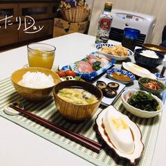 フォロー大歓迎/男前豆腐/ランチョンマット/ダイソー/至福の時間/おうち時間/...          5/3(日) 夕食  …(2枚目)