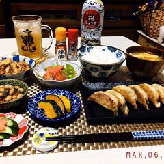 KOMERI/フォロー大歓迎/S&B辣油/S&B七味唐からし/ヤマサ絹しょうゆ減塩/ランチョンマット/...         3/6(金) 夕食  ご…