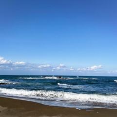 フォロー大歓迎/リミとも部/ドライブ/おでかけ/風景/日本海/... 穏やかな日本海と青空