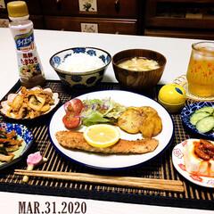 うまい村デイリー S&B マジックソルト オリジナル 80g x5(その他調味料、料理の素、油)を使ったクチコミ「        3/31(火) 夕食  …」
