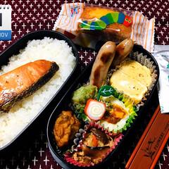 鮭弁/はらぺこあおむしパウンドケーキ/わかめスープ/主人弁当/ダイソー/100均/...      11/21(木) 主人弁当🍱 …