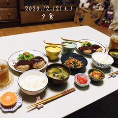 フォロー大歓迎/茶碗蒸し/ハンバーグ/ハンプティダンプティ/100均/リミとも部/...        12/12(土) 夕食 ご…
