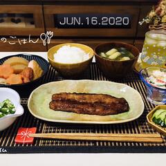 煮物/フォロー大歓迎/至福の時間/おうち時間/おうちタイム/味噌汁/...         6/16(火) 夕食  …