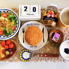 うまい村デイリー QP 深煎りごまドレッシング 380ml x6(ドレッシング)を使ったクチコミ「        3/20(水) 朝食  …」