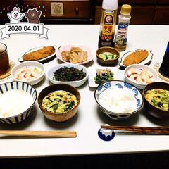 箸置き/フォロー大歓迎/KOMERI/至福の時間/おうちごはん/夕食/...         4/1(水) 夕食  ご…