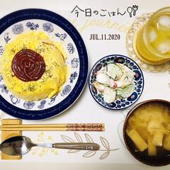 フォロー大歓迎/キッチン雑貨/ランチョンマット/シルク/至福の時間/おうちごはん/...         7/11(土) 夕食  …