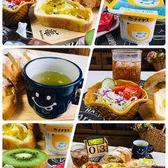 朝食/3coins/チチヤスヨーグルト/ロルフ大人のベビーチーズ明太子/ナチュラルキッチン/シルク/...                  9/3…