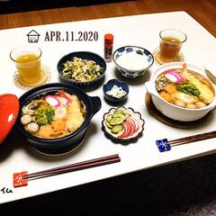 フォロー大歓迎/カラー土鍋19㎝/KOMERI/至福の時間/おうちタイム/おうちごはん/...         4/11(土) 夕食  …