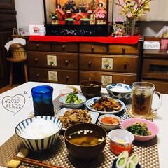 至福の時間/お雛様/おうちごはん/夕食/ひな祭り/ダイソー/...         2/22(土) 夕食  …