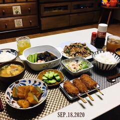 フォロー大歓迎/ナチュラルキッチン/キッチン雑貨/ランチョンマット/KOMERI/ドン・キホーテ/...         9/18(金) 夕食  …