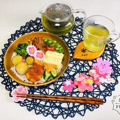 おーいお茶 宇治抹茶入り玄米茶 200g(その他ソフトドリンク)を使ったクチコミ「        2/28(金) 昼食  …」
