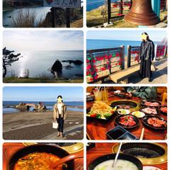 日本海/フォロー大歓迎/夕食/焼肉/ドライブ/風景/...  2/29(土)海まで娘とドライブ🚗💨 …