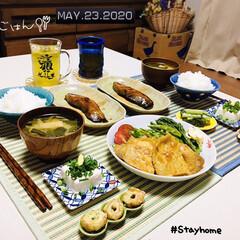 結婚記念日/フォロー大歓迎/お茶碗/アテーナ/ランチョンマット/ナチュラルキッチン/...         5/23(土) 夕食  …