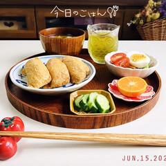 花のある暮らし/ドライフラワー/フォロー大歓迎/サラダ/ゆで卵/味噌汁/...         6/15(月) 朝食  …