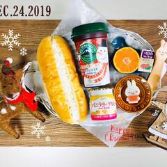 クリスマスフェルト トナカイとマフラー/パン/kaldi/ランチョンマット/ナチュラルキッチン/クリスマス雑貨/...        12/24(火) 朝食  …