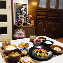 フォロー大歓迎/なんじゃ村/halloween/ハロウィン/ランチョンマット/ナチュラルキッチン/...        10/30(金) 夕食  …(1枚目)