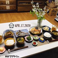フォロー大歓迎/リビング/雪やなぎ/ドライフラワー/花/ランチョンマット/...         4/17(金) 夕食  …