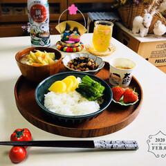 ひやしあめコップ/ミニ雛飾り/フォロー大歓迎/至福の時間/おうちごはん/昼食/...         2/9(日) 昼食  ご…