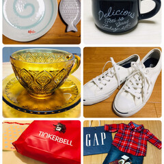 converse ジャックパーセル/食器/GLASS CUP & SAUCER/TINKERBELL/GAP/スニーカー/... iIIusie300で夏らしい器・ミルク…