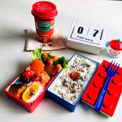 昼食/お弁当箱/お弁当/LIMIAごはんクラブ/フォロー大歓迎/わたしのごはん/... 2/7(木)  昼食・自分弁当 今朝は主…