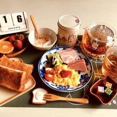 カレルチャペック/紅茶/朝食/おうちごはん インフルエンザ予防に紅茶が効果があるそう…