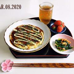 永井海苔 青粉 10g(焼き海苔)を使ったクチコミ「        3/8(日) 昼食  お…」