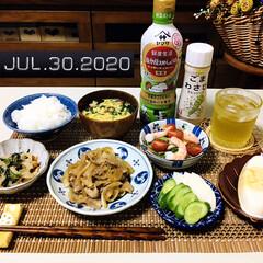 フォロー大歓迎/暮らし/キッチン雑貨/ランチョンマット/至福の時間/おうちごはん/...         7/30(木) 夕食  …