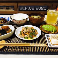 フォロー大歓迎/キッチン雑貨/ランチョンマット/至福の時間/リミとも部/暮らし/...         9/9(水) 夕食  ご…