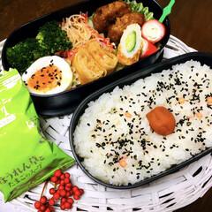 永谷園 ピンクの梅ごましお 45g(ふりかけ)を使ったクチコミ「お弁当🍱 ほんのり香るさわやかな梅風味ピ…」