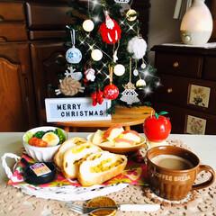 ワッツ/クリスマス雑貨/クリスマスツリー/クリスマス/シルク/ランチョンマット/...         12/12(木) 朝食 …