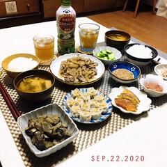 フォロー大歓迎/キッチン雑貨/ランチョンマット/至福の時間/リミとも部家事フォト/リミとも部/...         9/22(火) 夕食  …