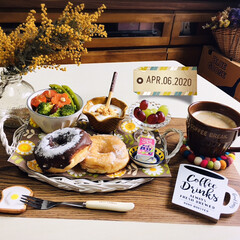 ネスカフェ エクセラ ふわラテ ネスレ NESCAFE(その他コーヒー)を使ったクチコミ「        4/6(月) 朝食  ヤ…」