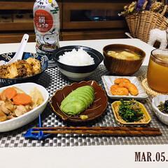 ヤマサ 鮮度生活 減塩しょうゆ200ml×1ケース(その他醤油)を使ったクチコミ「        3/5(木) 夕食  ご…」