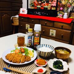 お雛様/ランチョンマット/フォロー大歓迎/豆皿/至福の時間/おうちごはん/...         2/17(月) 夕食  …