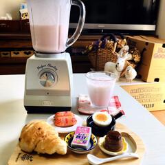 ラドンナ ホームブレンダー K-BD1 | ラドンナ(ジューサー、ミキサー、フードプロセッサー)を使ったクチコミ「        3/12(木) 朝食  …」