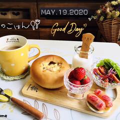 フォロー大歓迎/人間ドックのランチ/茨城県産とちおとめ/しまむら/ドライフラワー/ランチョンマット/...         5/19(火) 朝食  …