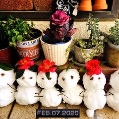 フォロー大歓迎/玄関前/雪だるま/住まい/暮らし        2020.2.7(金)  …