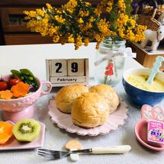 うまい村デイリー クノール カップスープ ツブタップリコーン 16袋 x6(スープ)を使ったクチコミ「        2/29(土) 朝食  …」