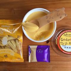 meiji THE Chocola.../カルビーじゃがビーしあわせバター/エミタスなめらかマンゴーチーズケーキ/フォロー大歓迎/至福のひととき/おやつタイム/...               6/26(水…