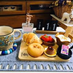 ネスカフェ エクセラ ふわラテ ネスレ NESCAFE | ネスカフェ(その他コーヒー)を使ったクチコミ「        2/11(火) 朝食  …」