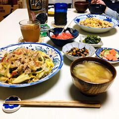 牛角ふりかけのり/フォロー大歓迎/至福の時間/おうちごはん/夕食/ダイソー/...         3/20(金) 夕食  …