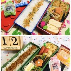 日清食品 チキンラーメンMini 10685 3食パック 1セット(インスタントラーメン)を使ったクチコミ「      9/12(木) 息子夜勤弁当…」