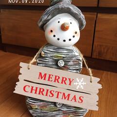 フォロー大歓迎/ウッド調スノーマン グレー30㎝/リミとも部/暮らし/クリスマス雑貨/クリスマス/...        2020.11.8(日) …(1枚目)