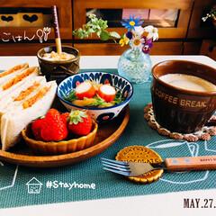 ランチョンマット/フォロー大歓迎/至福の時間/stayhome/おうち時間/おうちタイム/...         5/27(水) 朝食  …